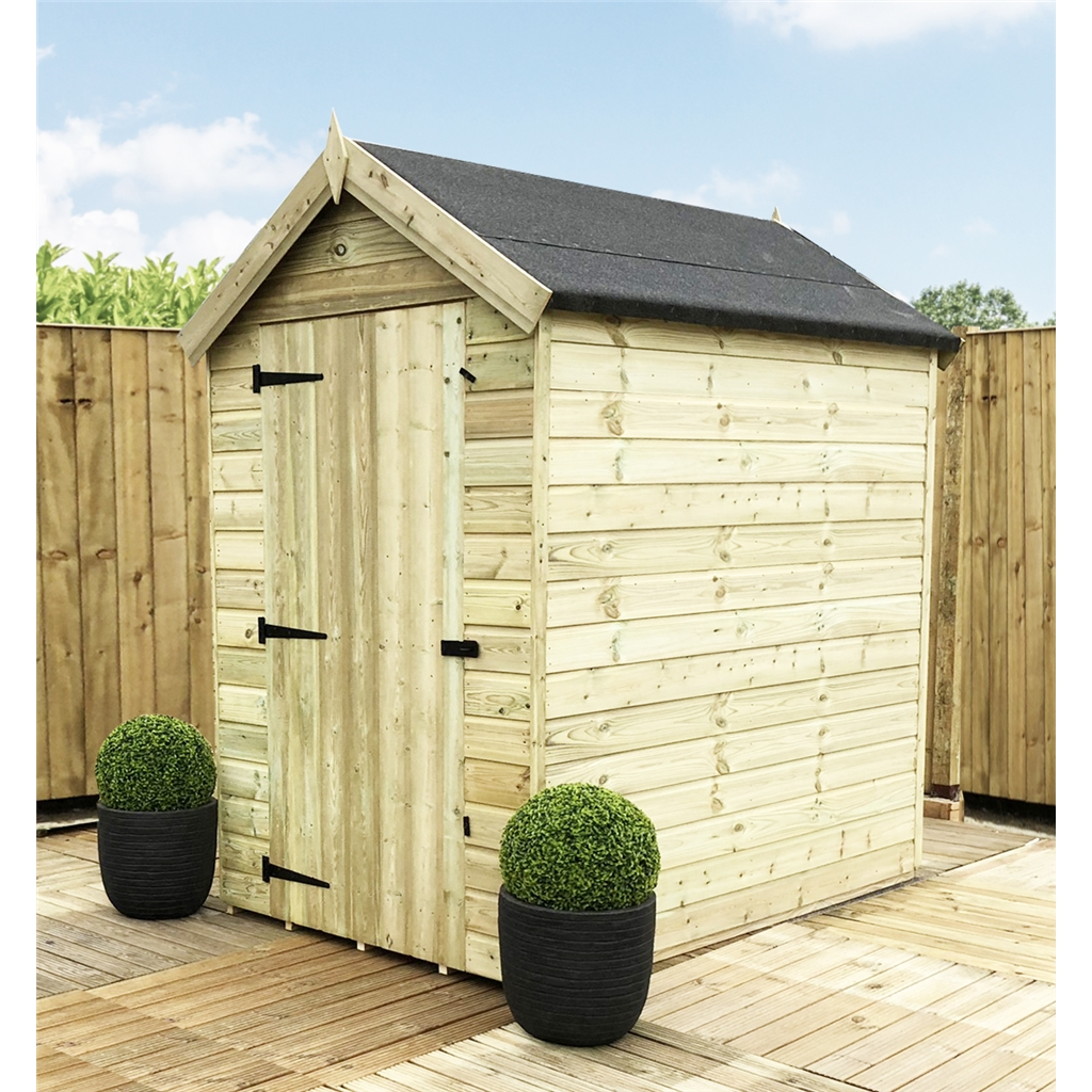 7 x 4 premier apex garden shed 12mm tongue and groove for Garden shed 7x4