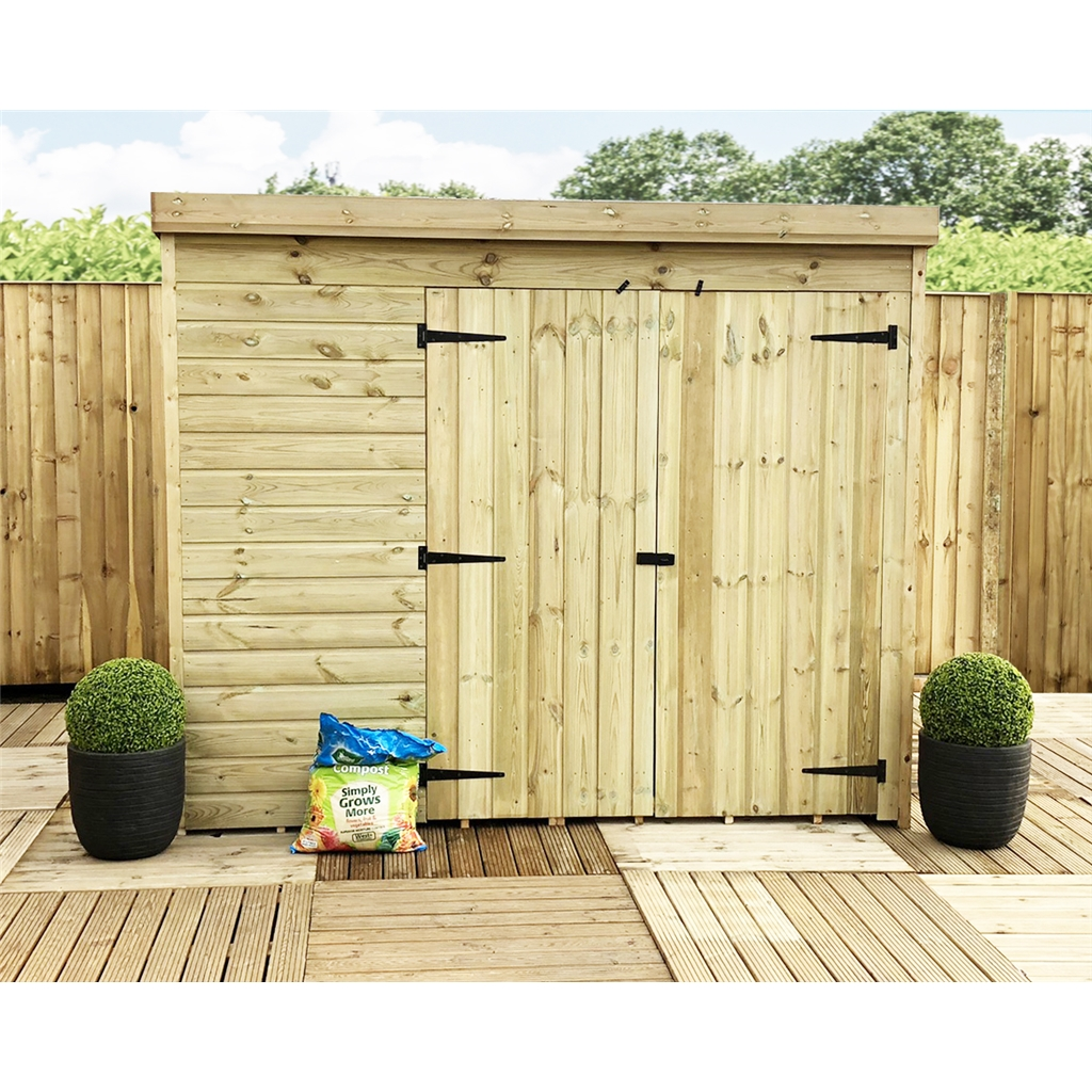 7 X 4 Pent Garden Shed 12mm Tongue And Groove Walls