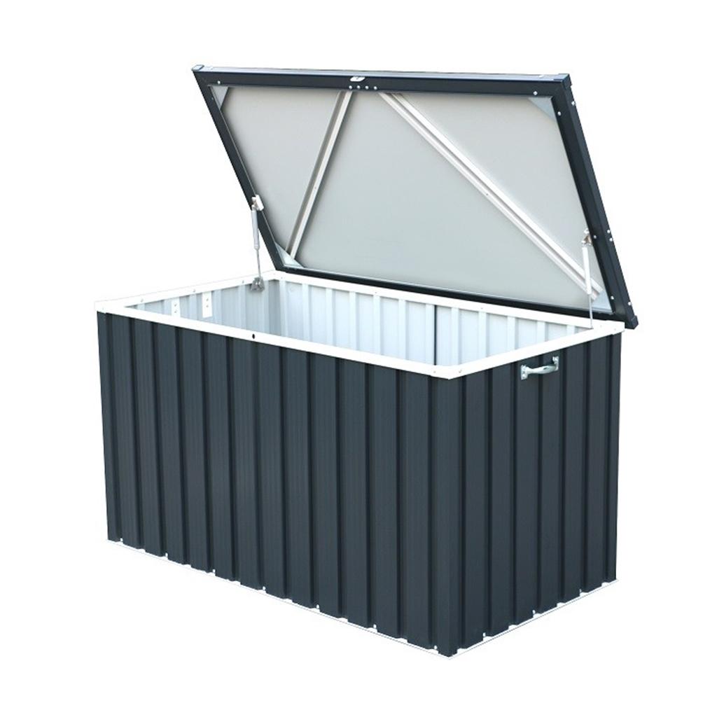 4 X 2 Deluxe Grey Metal Storage Box 1 28m X 0 68m
