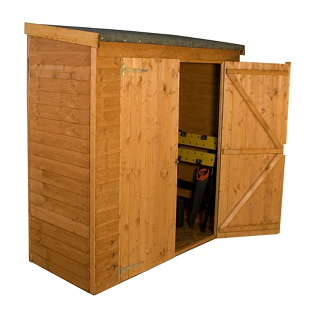 Installed 6 X 26 Wooden Overlap Pent Storage Wooden Garden Shed Double Doors Includes Installation Homeberry
