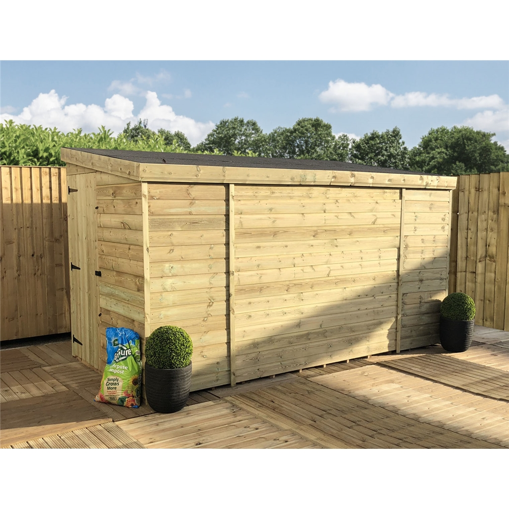 12x6 19mm Pent Tanalised Shed