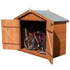7 X 3 Wooden Bike Store