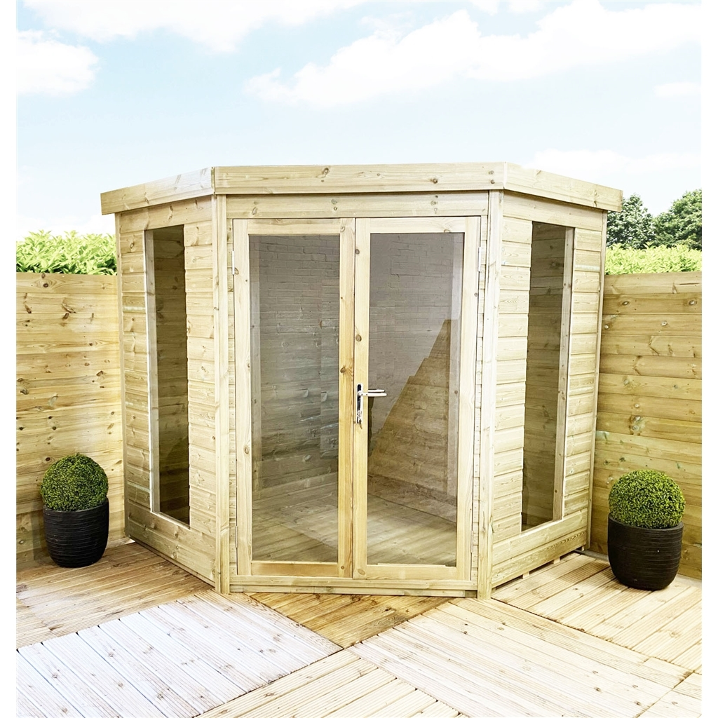 Our New Pressure Treated Corner Summerhouses Are Now Available